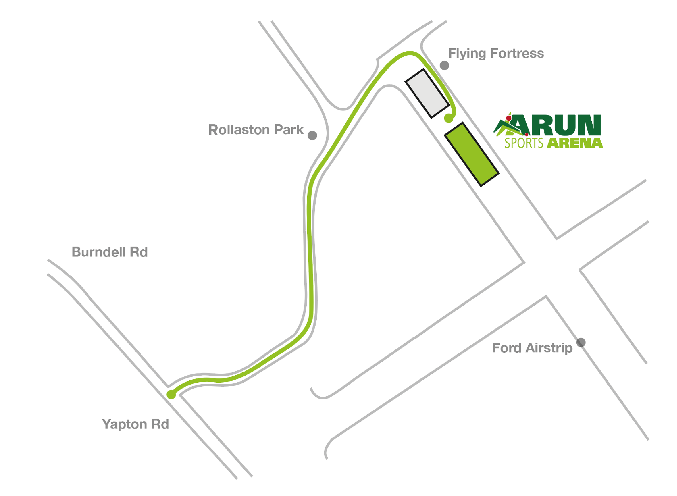 Directions to Arun Sports Arena graphic
